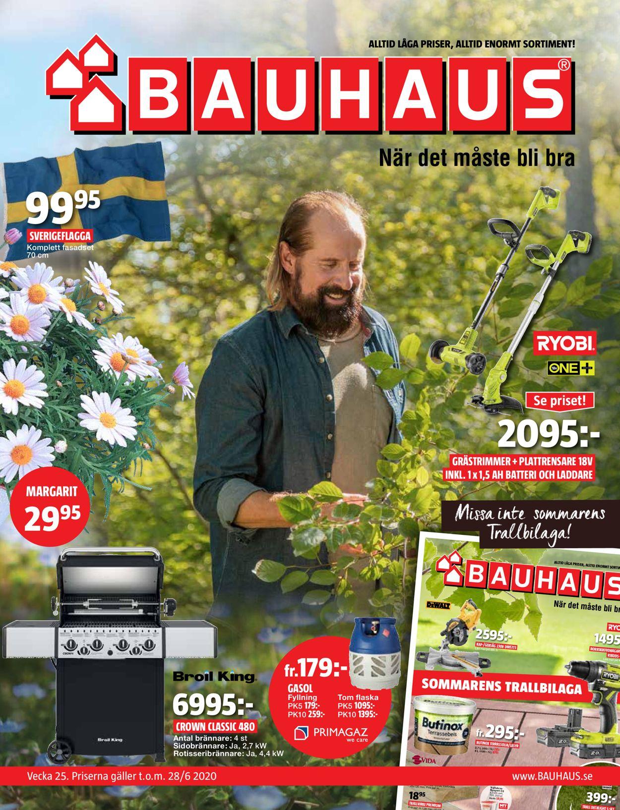 Reklamblad Bauhaus från 15/06-2020