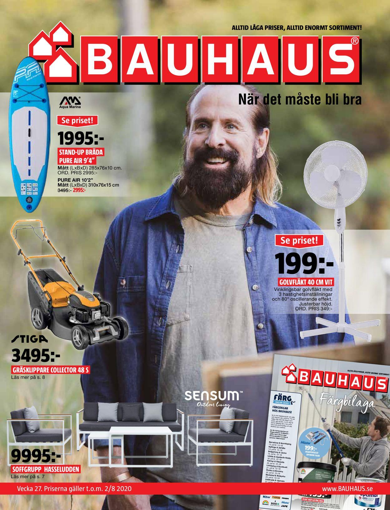 Reklamblad Bauhaus från 29/06-2020
