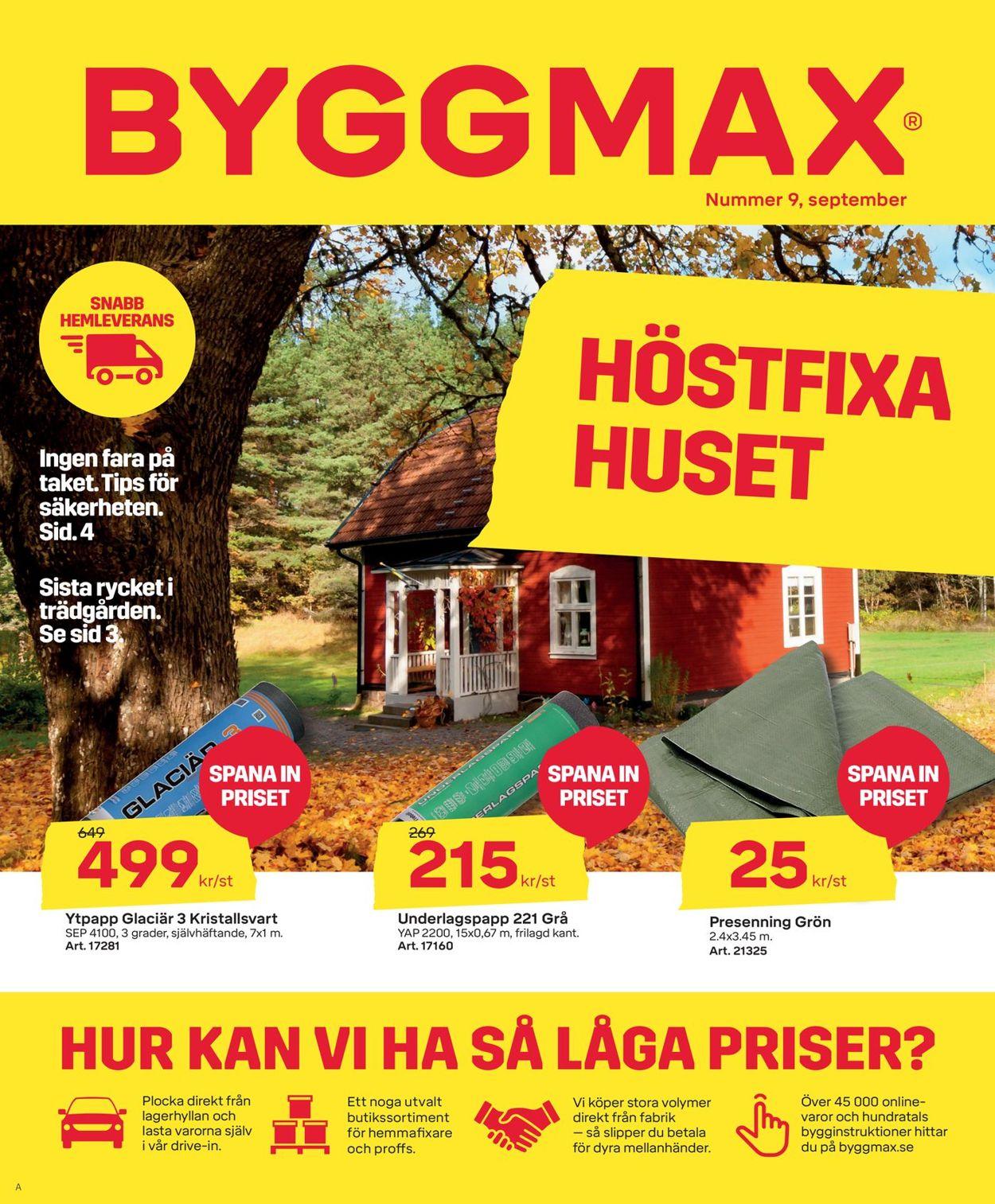 Reklamblad ByggMax från 28/08-2020