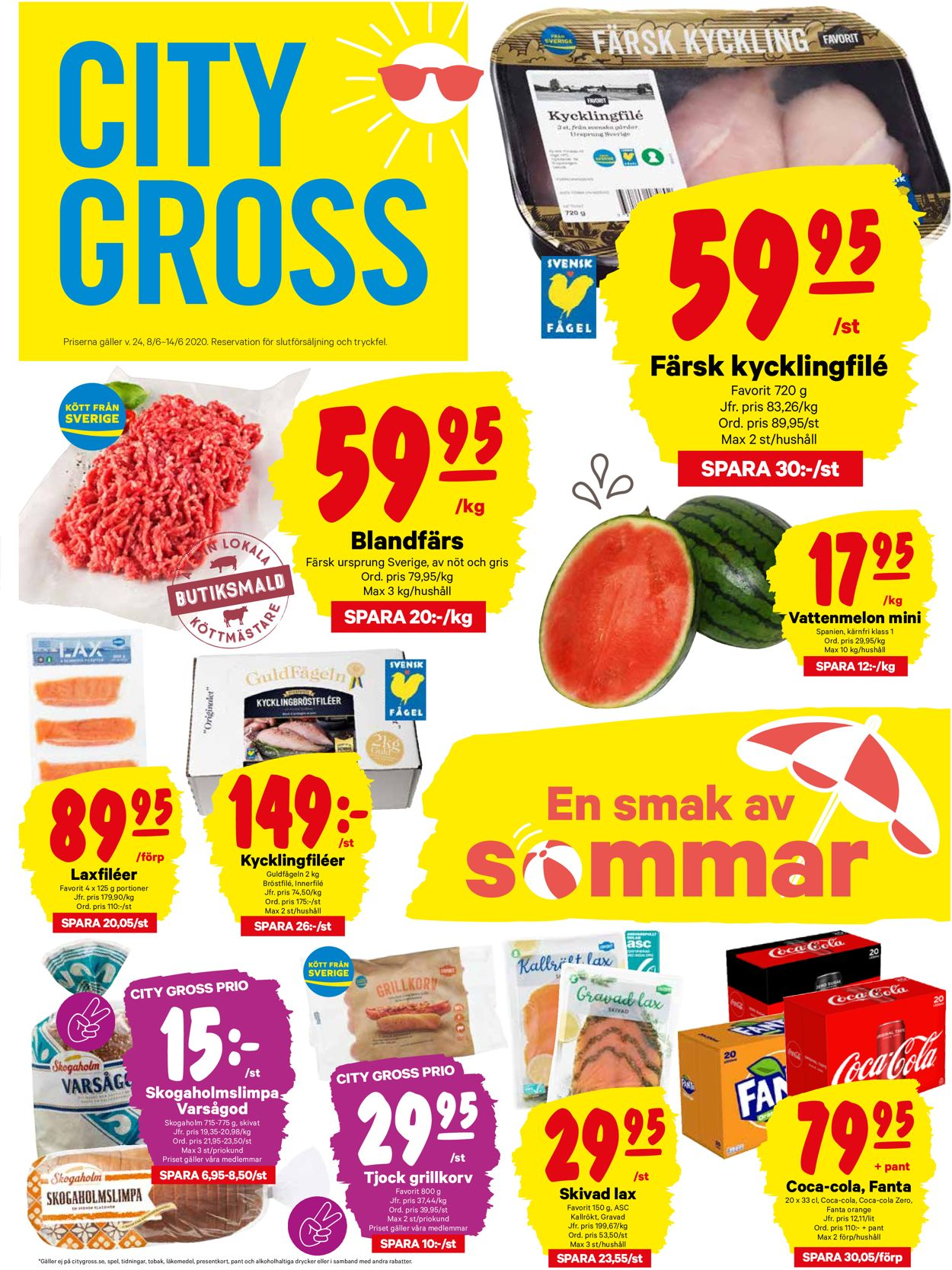 Reklamblad City Gross från 08/06-2020