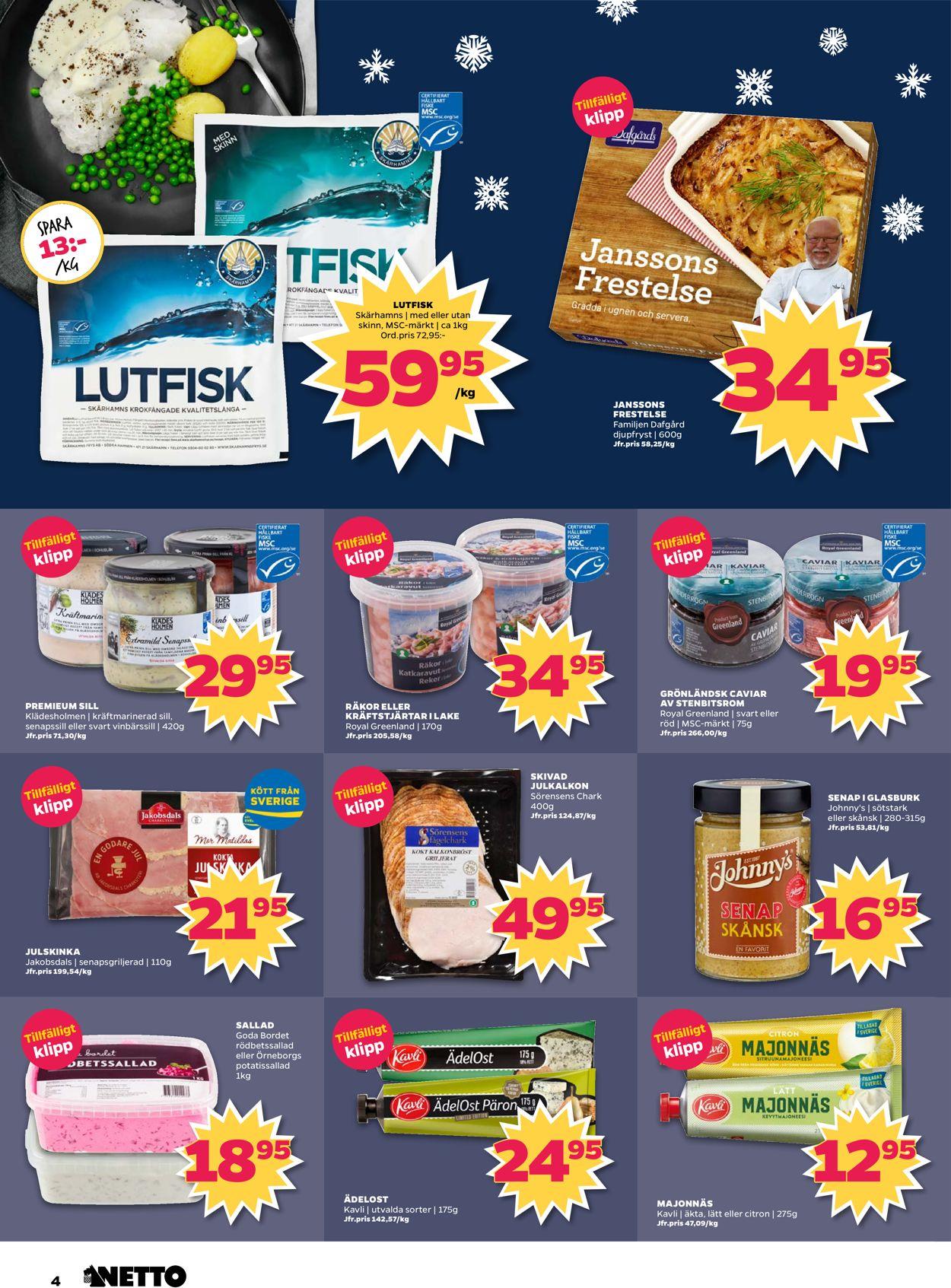 Reklamblad Aktuell annons Netto Julen 19/20 från 16/12-2019