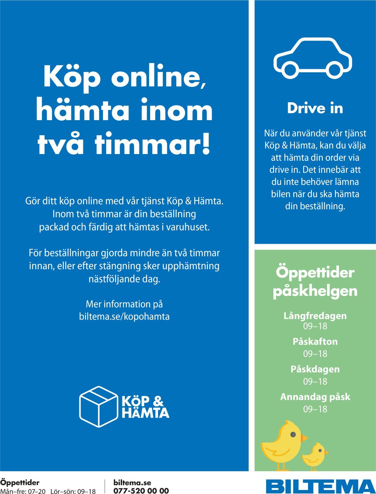 Reklamblad Biltema från 06/04-2020