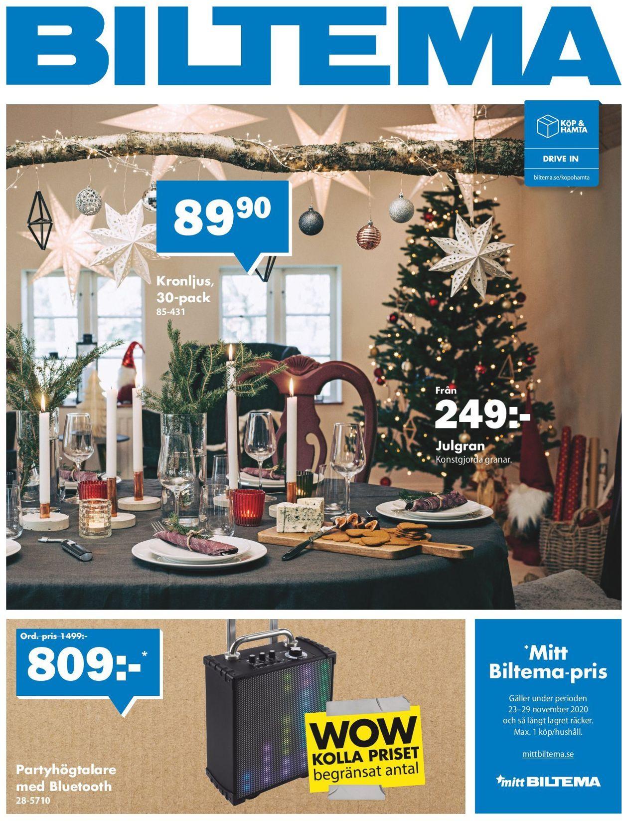 Reklamblad Biltema Julen 2020 från 23/11-2020