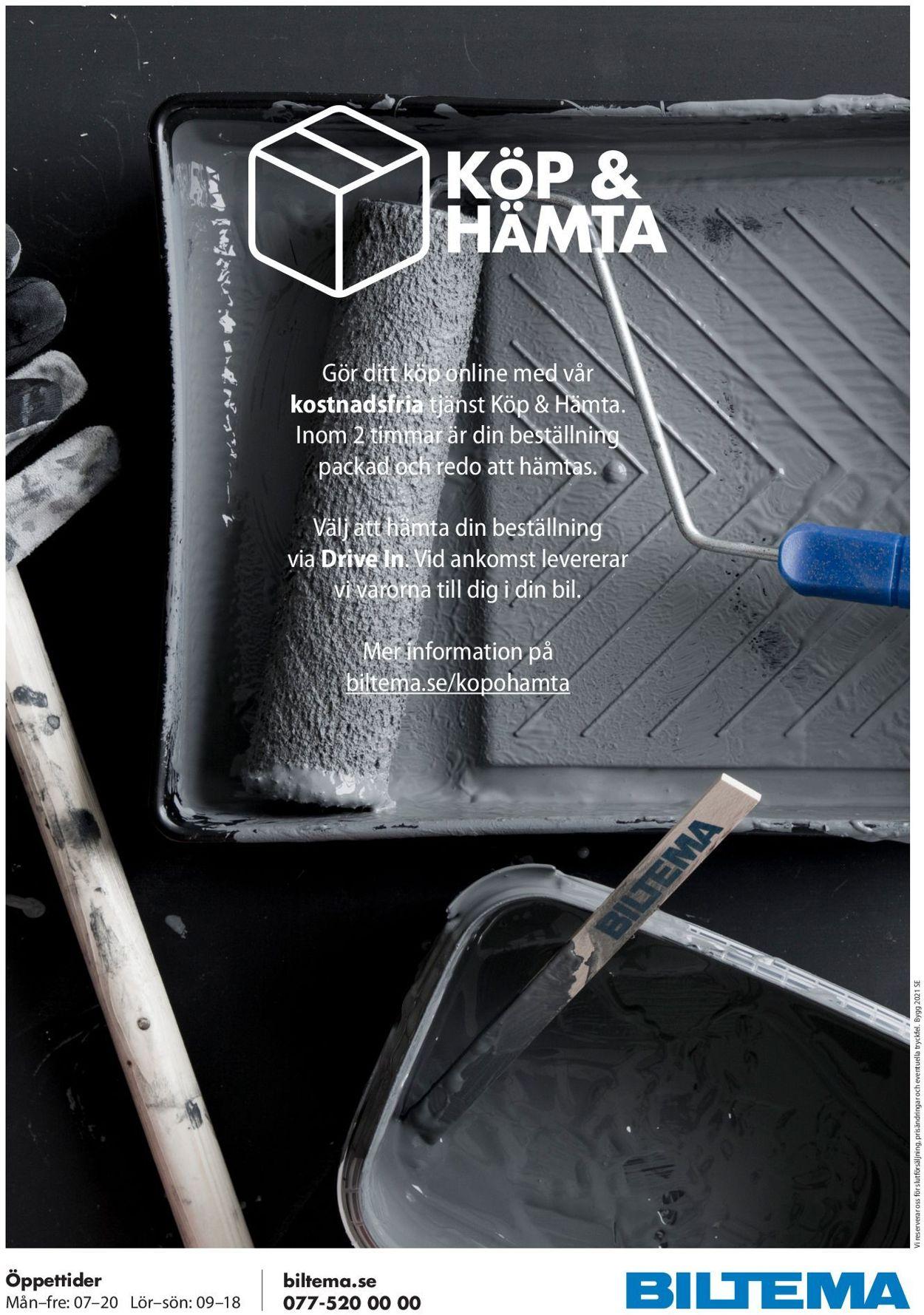 Reklamblad Biltema från 12/04-2021