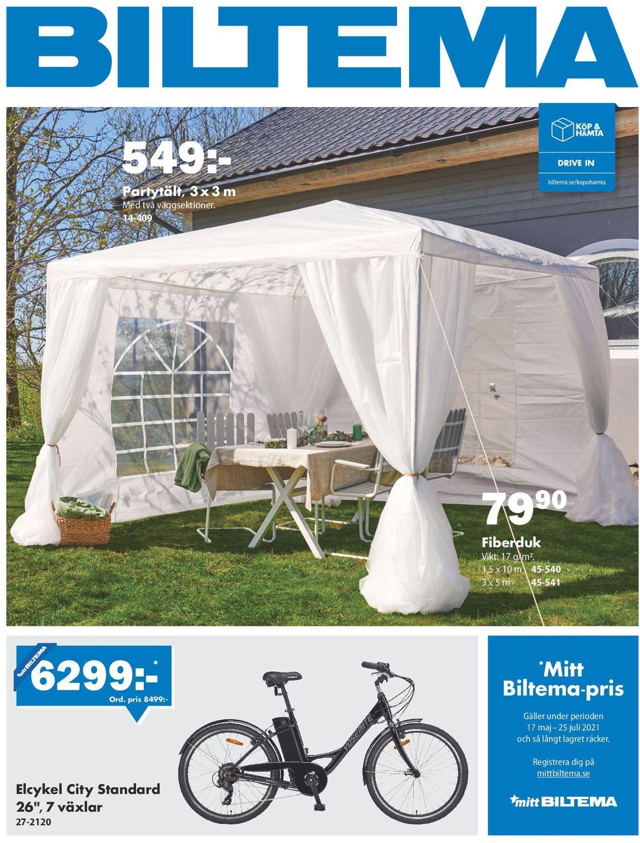Reklamblad Biltema från 17/05-2021