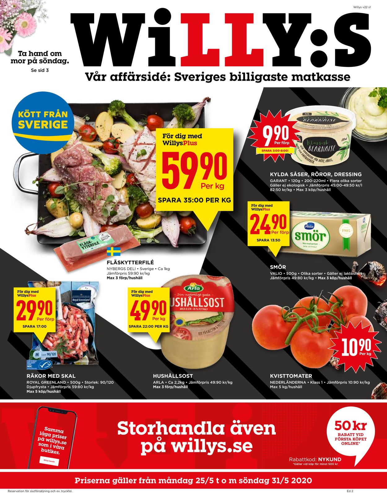 Reklamblad WiLLY:S från 25/05-2020