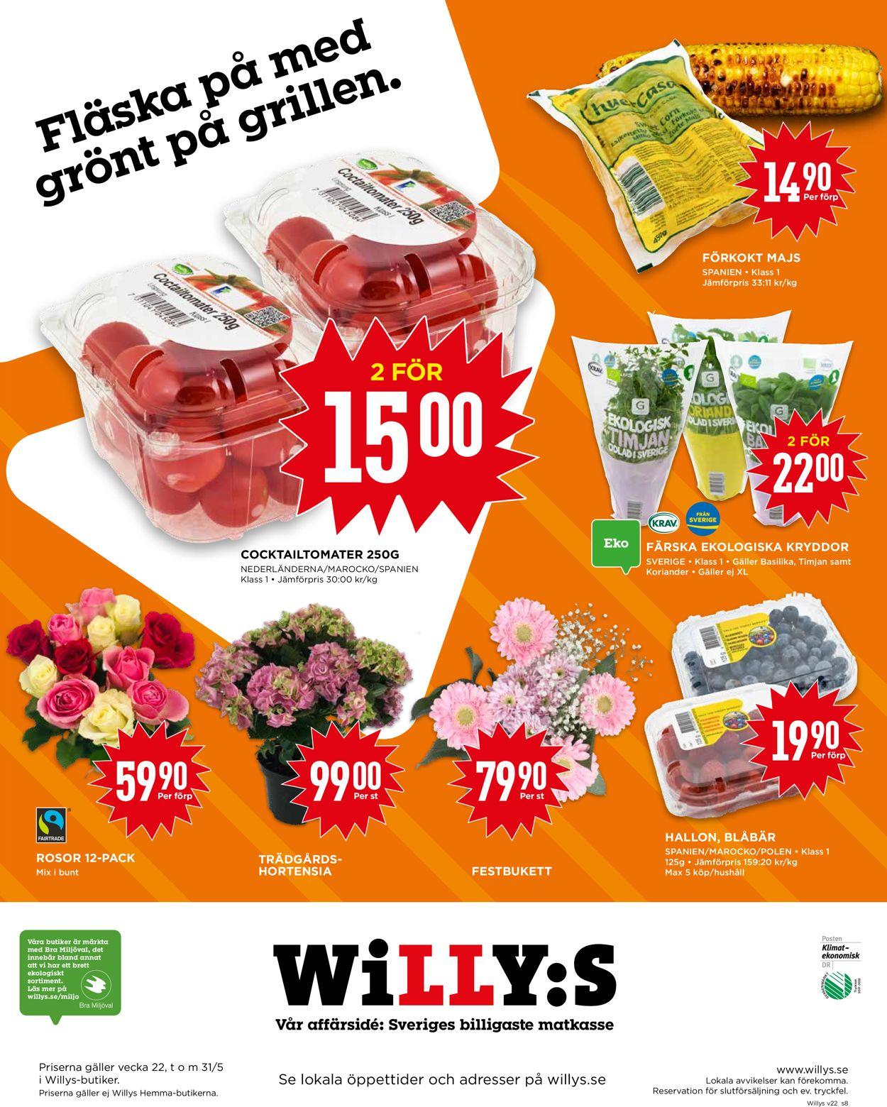 Reklamblad WiLLY:S från 25/05-2020