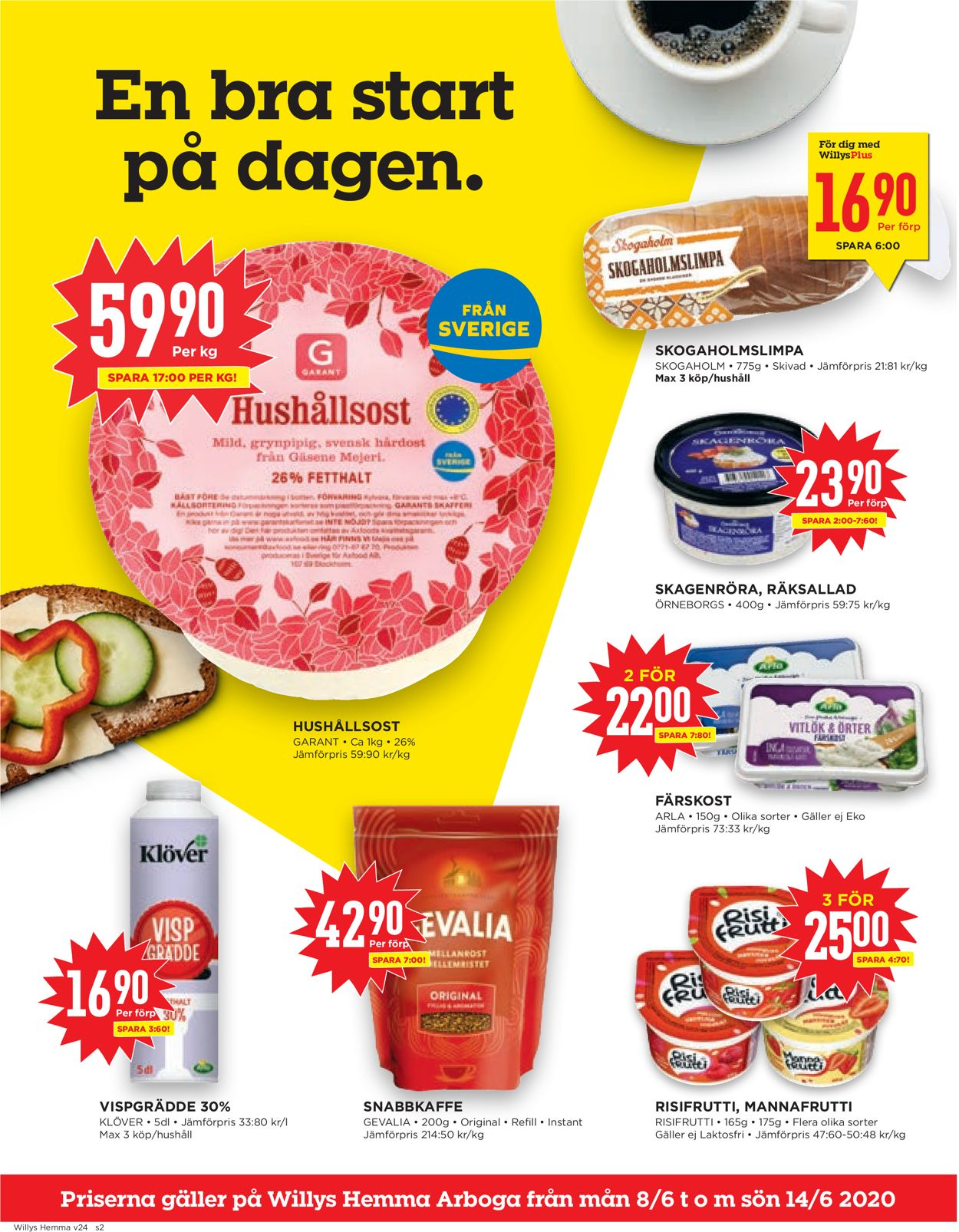 Reklamblad WiLLY:S från 08/06-2020