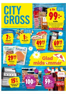 Reklamblad City Gross från 15/06-2020