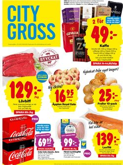 Reklamblad City Gross från 24/08-2020