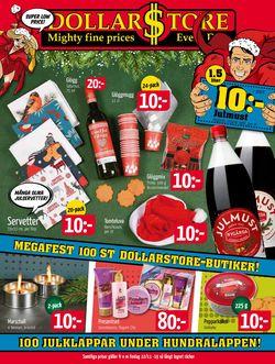 Reklamblad Aktuell annons Dollarstore Julen 2019 från 22/11-2019
