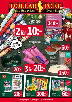 Reklamblad Aktuell annons Dollarstore Julen 2019 från 16/12-2019